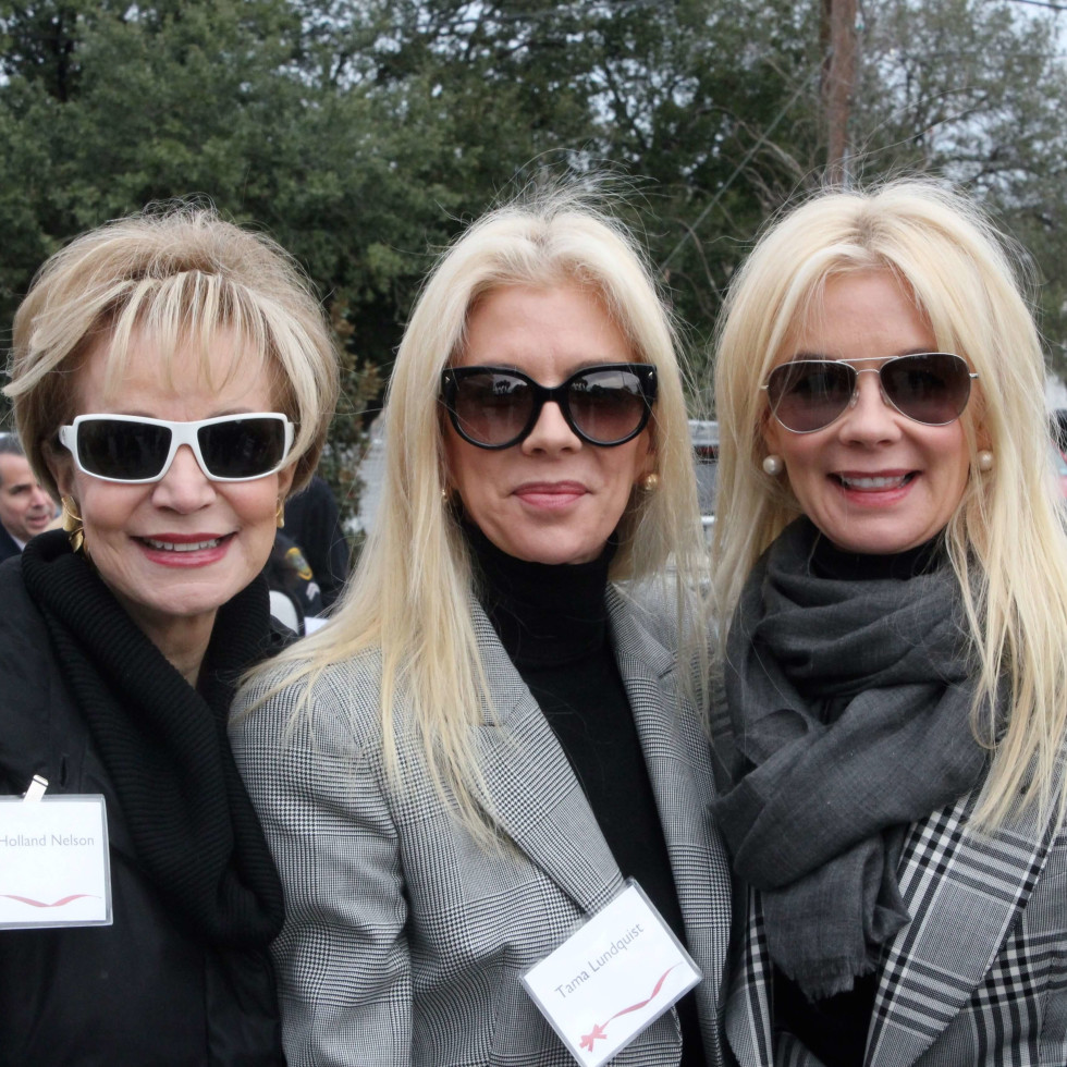 Leisa Holland-Nelson, Tama Lundquist, Tena Faust at Crime Stoppers building dedication
