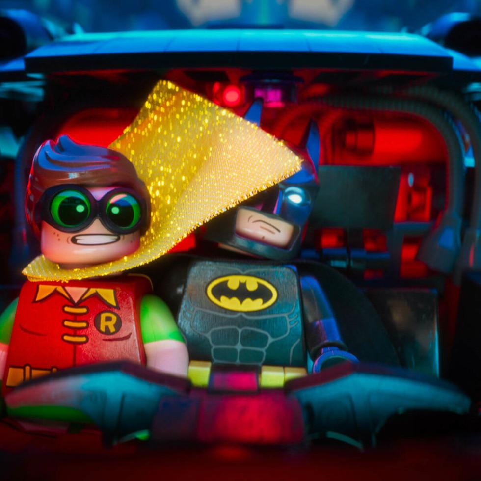 Robin (Michael Cera) and Batman (Will Arnett) in The LEGO Batman Movie