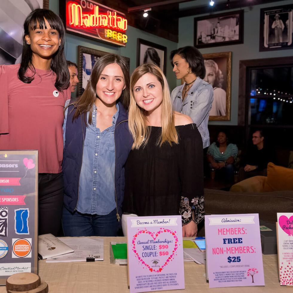 Houston, Red Buds Date Auction, Feb 2017, Blair Moon, Carolina Velazquez, Randi Koenig