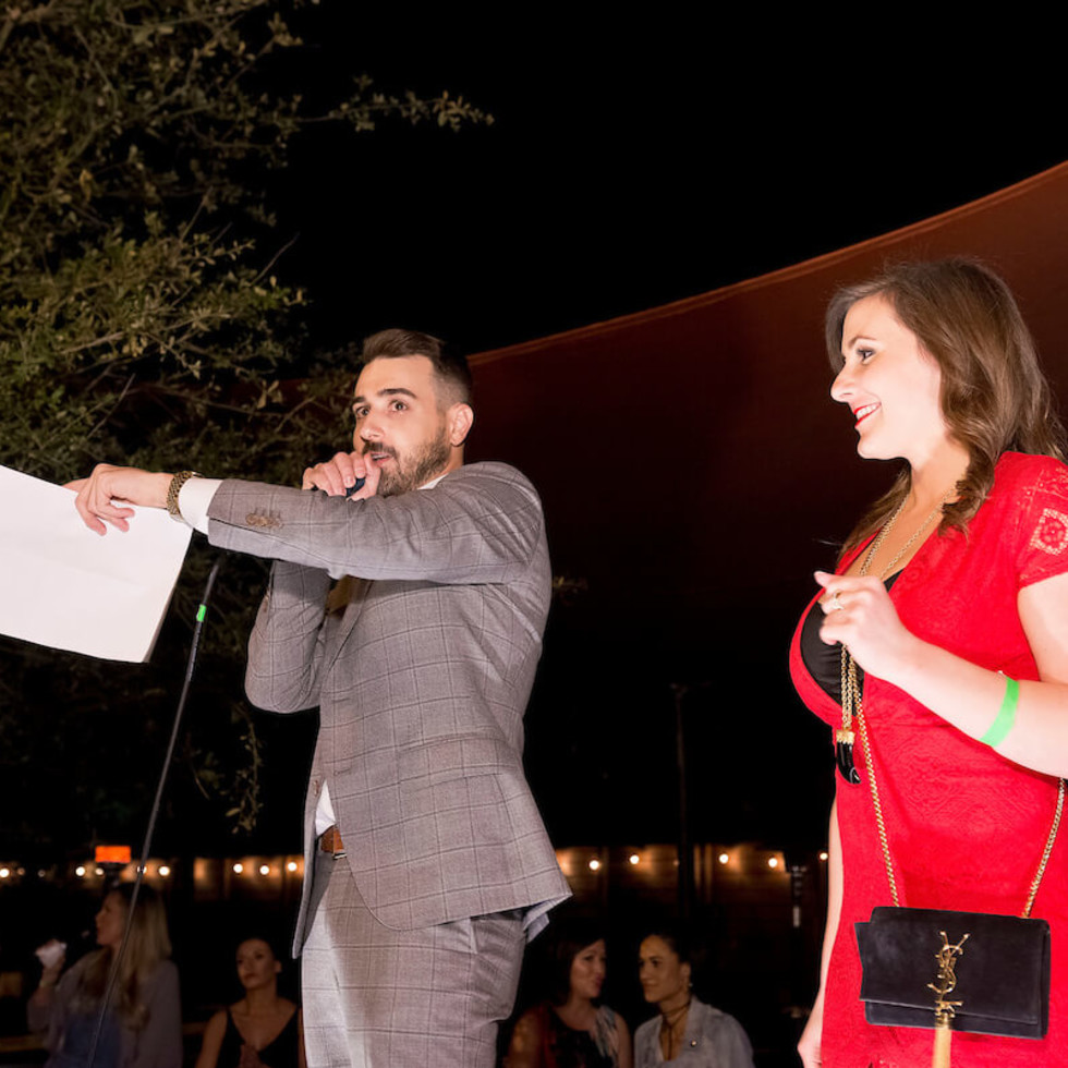 Houston, Red Buds Date Auction, Feb 2017, Steven Stone, Mandy McGowen
