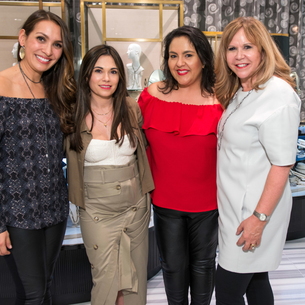 Houston, Latin Women's Initiative Fashion Show and Luncheon, feb 2017, Julie Applewhite, Michele Leal, Susie Molina, Cyndy Garza Roberts