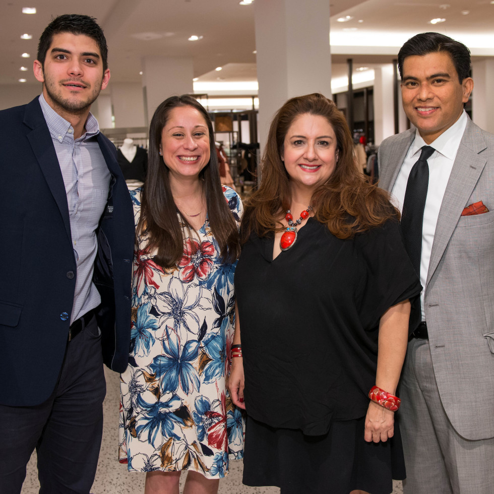 Houston, Latin Women's Initiative Fashion Show and Luncheon, feb 2017, Hector Pena, Lauren Soliz, Sonia Soto, Jose Medrano