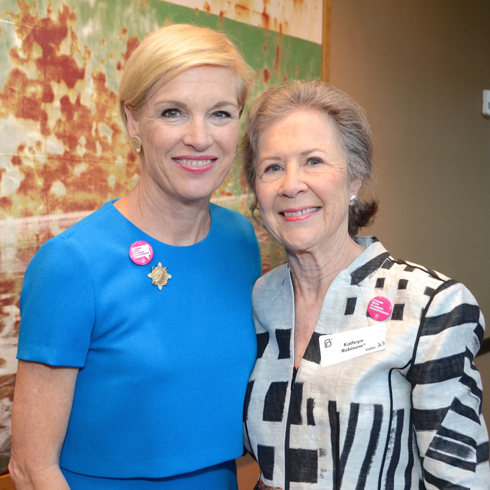 Cecile Richards, Kathryn Rabinow at Planned Parenthood luncheon