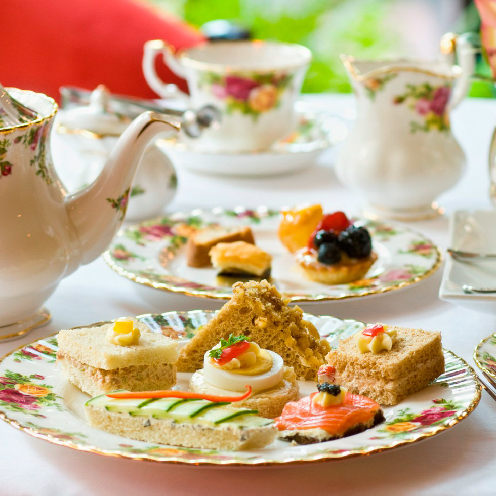 afternoon tea, Hotel Granduca, August 2012, tea service