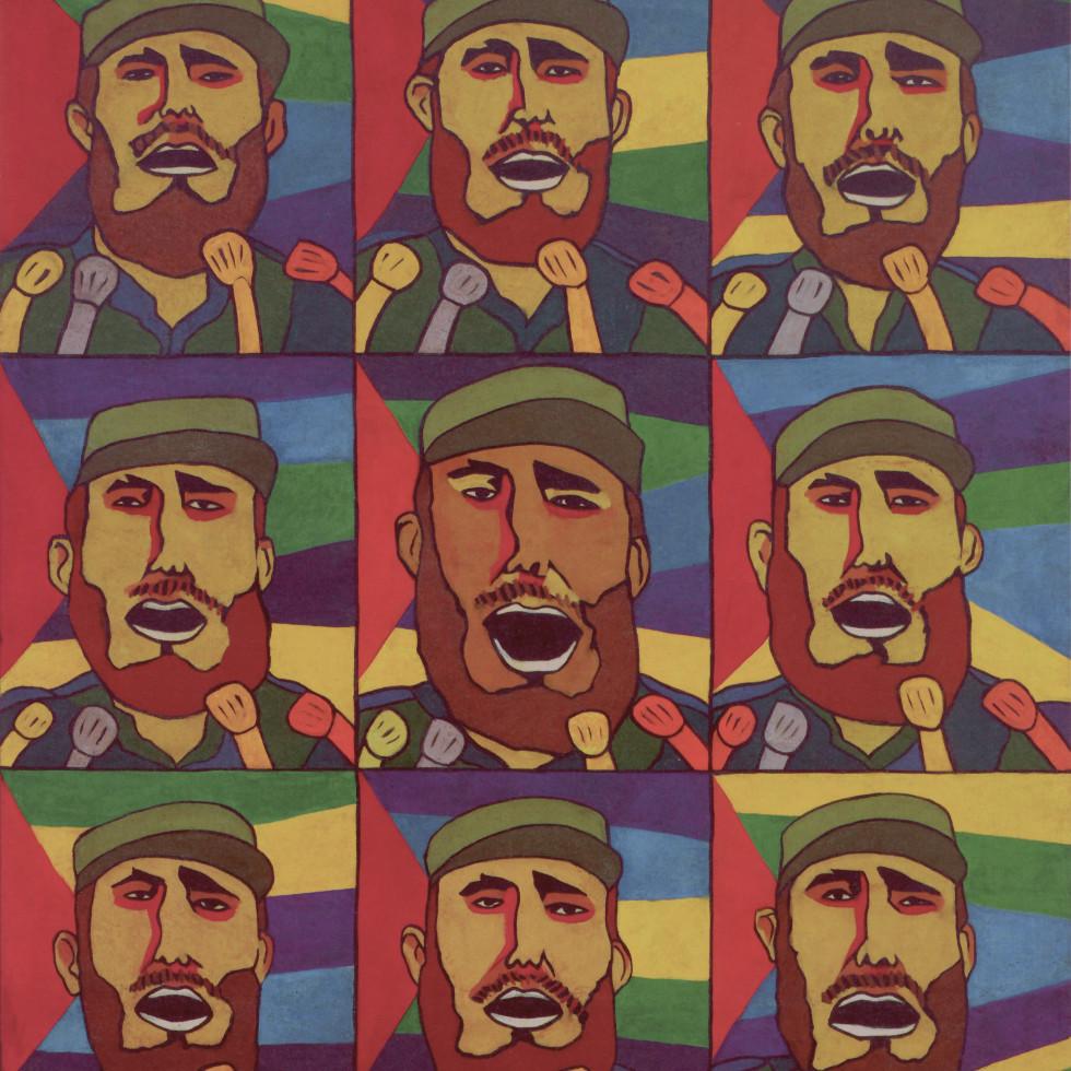 Adiós Utopia: 9 Repeticiones del Fidel con Micrófono (9 Repetitions of Fidel with a Microphone)
