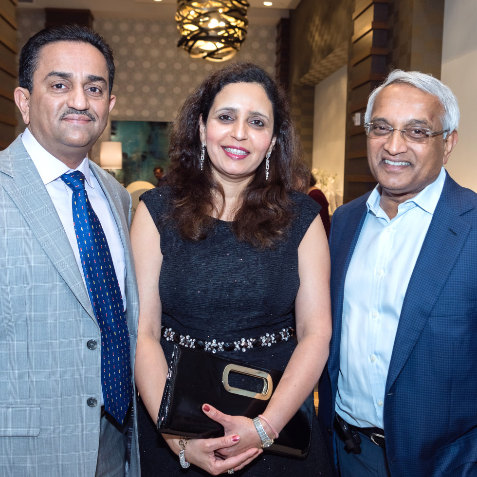 Houston, Pratham Houston's gala kickoff, March 2017, Pankaj Dhume, Asha Dhume, Dr. Madaiah Revani