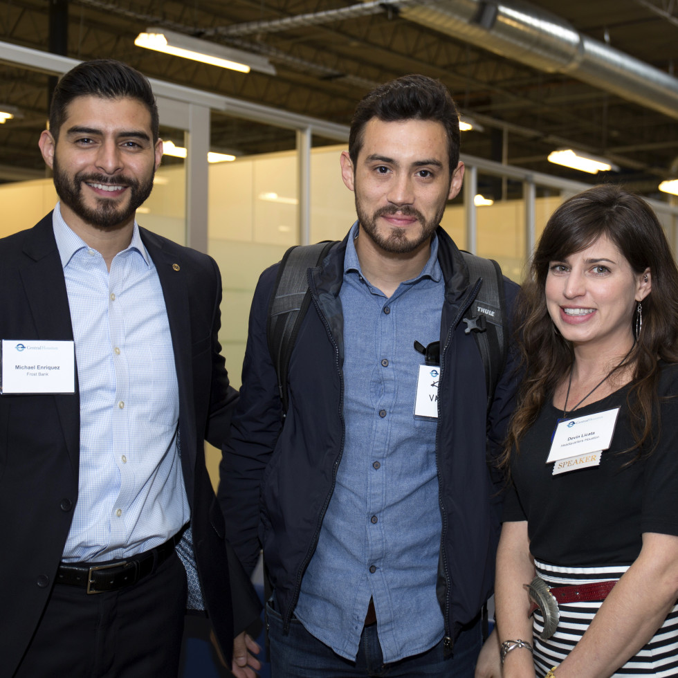 Houston, CHIME YP event at Headquarters, March 2017, Michael Enriquez, Kevin Valdez, Devin Licata