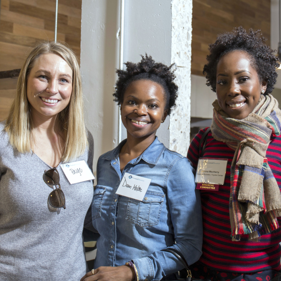 Houston, CHIME YP event at Headquarters, March 2017, Paige Giese, Dawn Malone, Jemina MacHarry