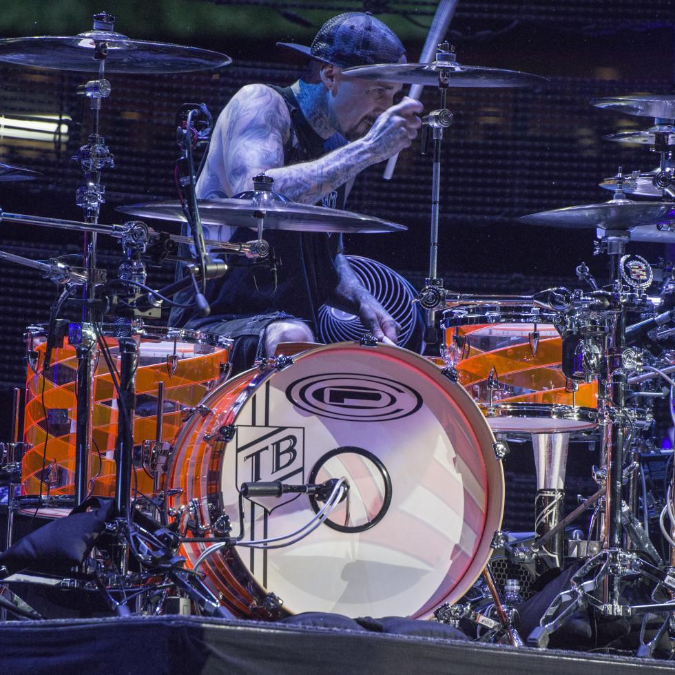 Blink 182 drummer Travis Barker at RodeoHouston