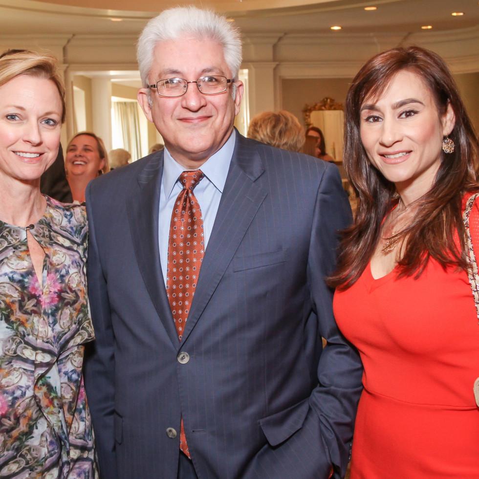 Reyne Hirsch, Woody Nassar, Rita Joubran at MS On The Move luncheon