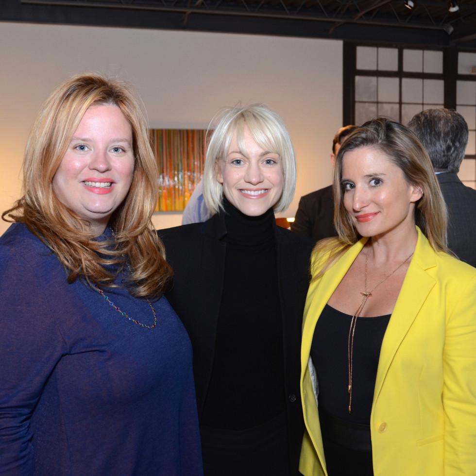 BeDESIGN cocktail party, Mary Clarkson, Sarah Busch, Alexandra Kleinschmidt