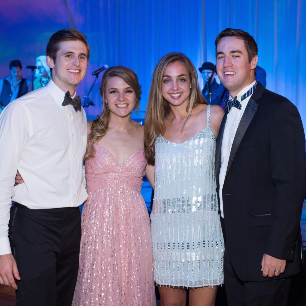 Garrett and Kristi Nondorf, Taylor and Granger McCollough at Covenant House Gala 2017