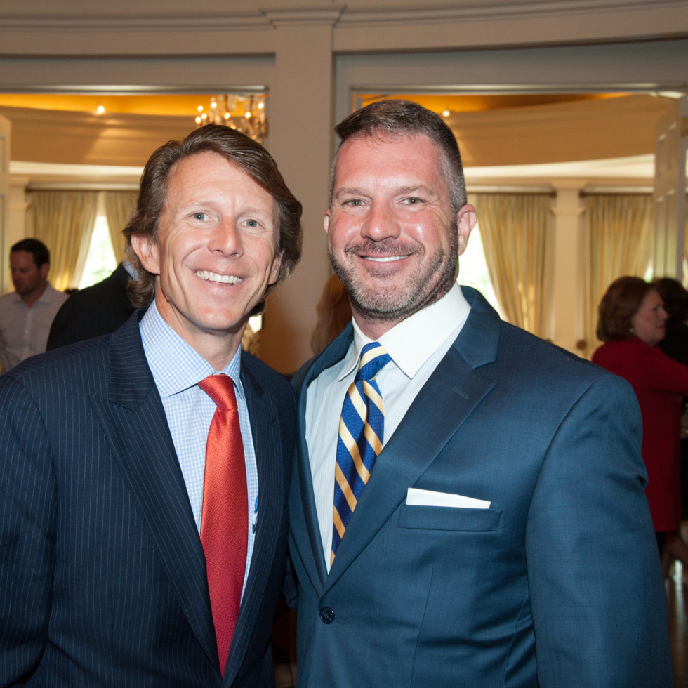 Houston, Aphasia luncheon with Lee Corso, April 2016, Brady Knight, Wade Knight