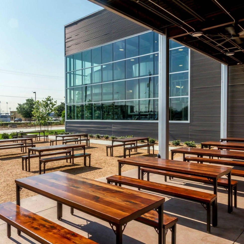 Houston, Karbach Brewing Restaurant and Patio, October 2015, patio