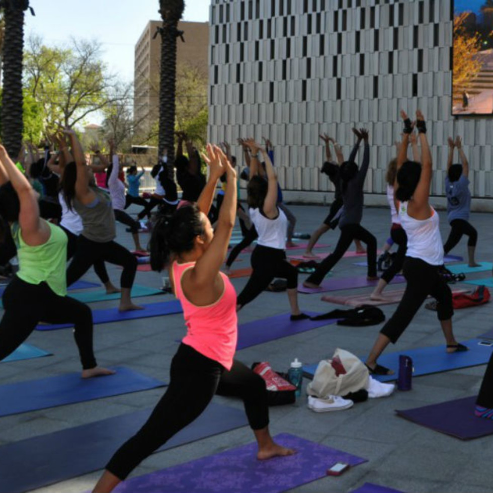 University Health System Fitness on the Plaza presents Yoga Flow + Meditation