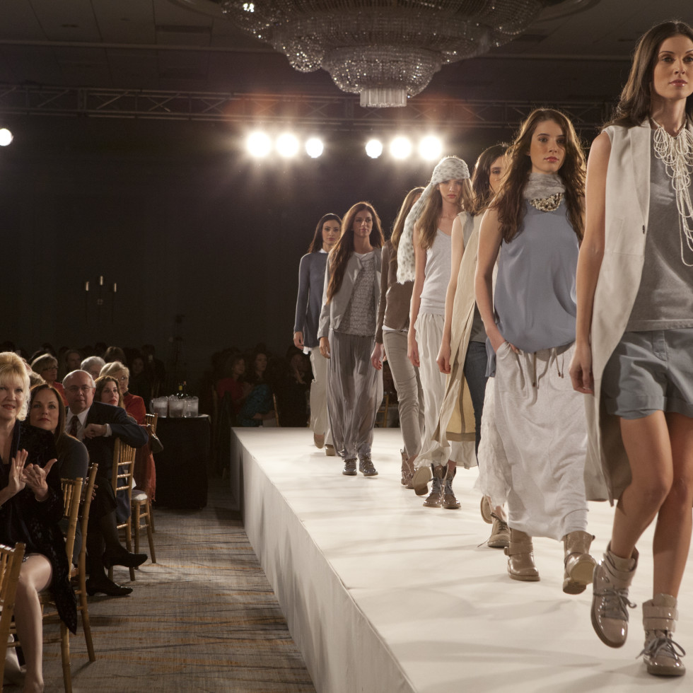 Child Advocates Angels of Hope luncheon, December 2012, fashion show, models, runway