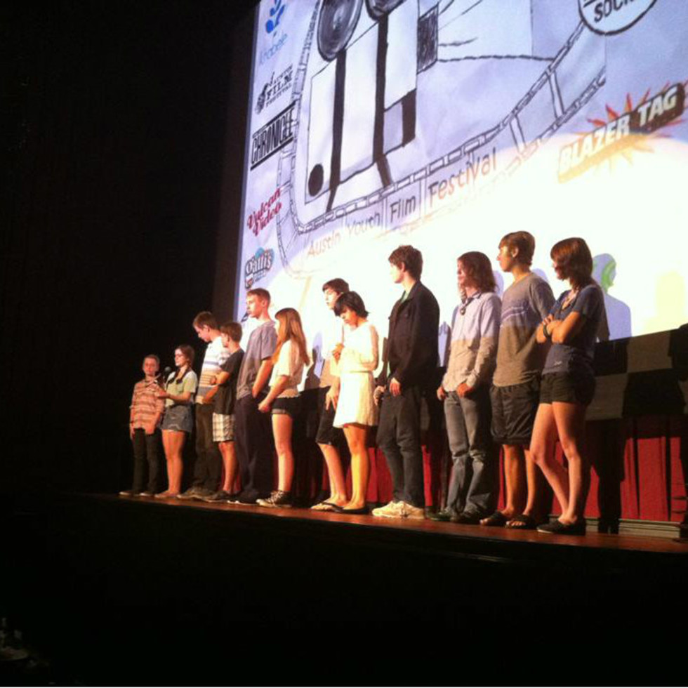 filmmakers at the Alamo Drafthouse Ritz for Austin Youth Film Festival