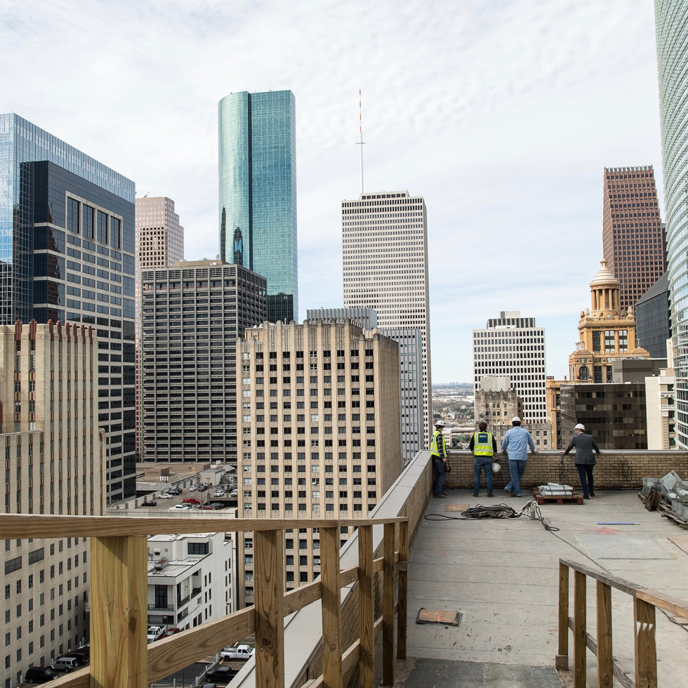 Bryan Caswell Oxbow 7 construction rooftop bar view
