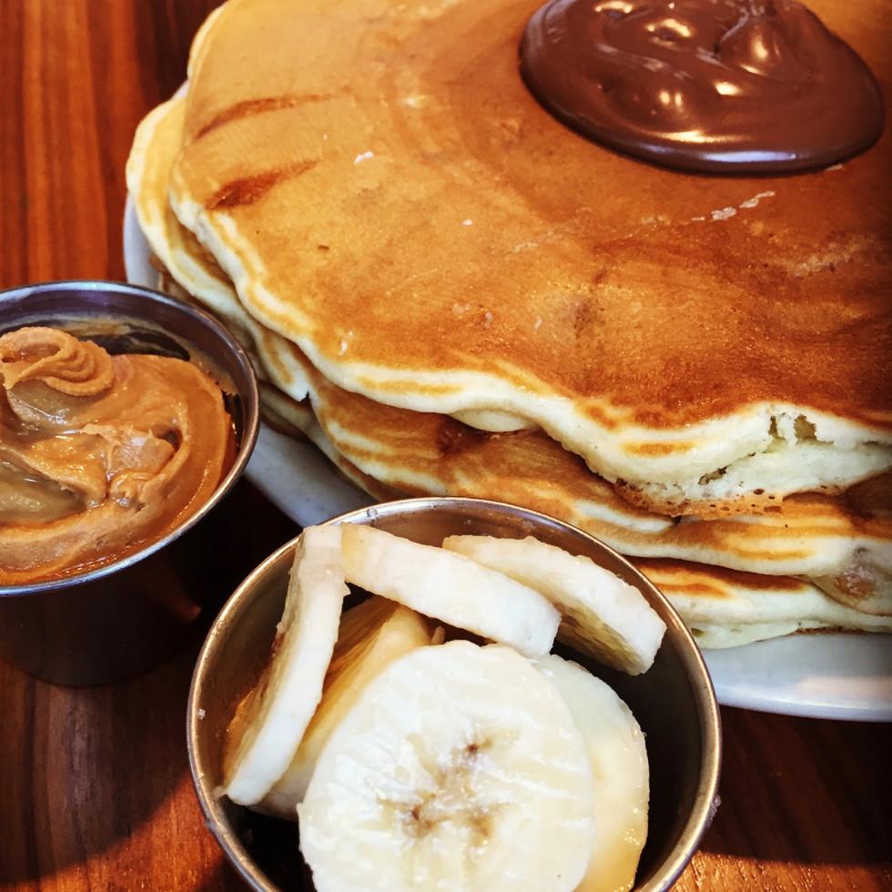 Kerbey Lane peanut butter banana nutella pancakes