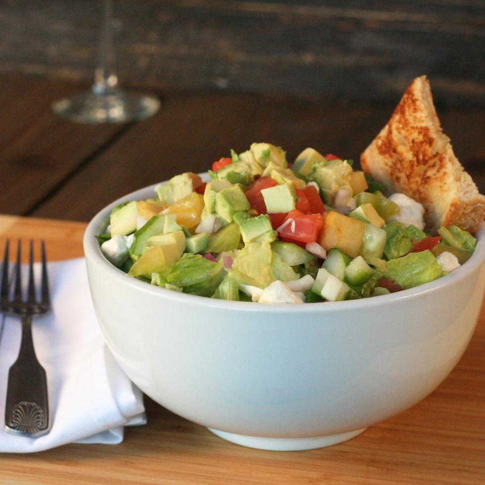 Bosscat Kitchen avocado farm salad
