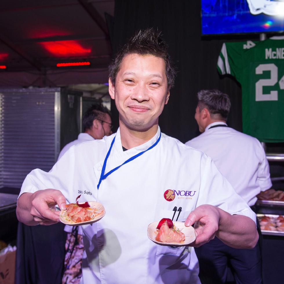 Taste of the NFL Taku Sato Nobu