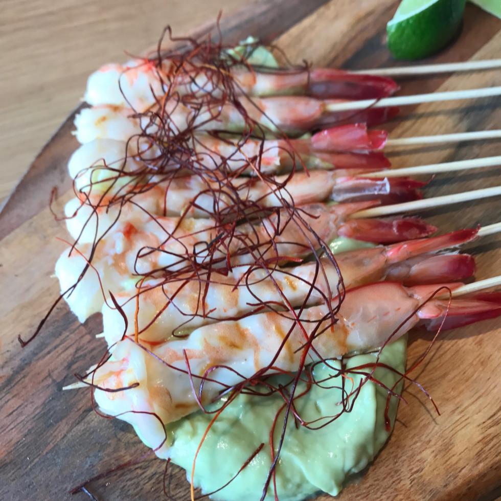 Local Foods downtown shrimp skewer