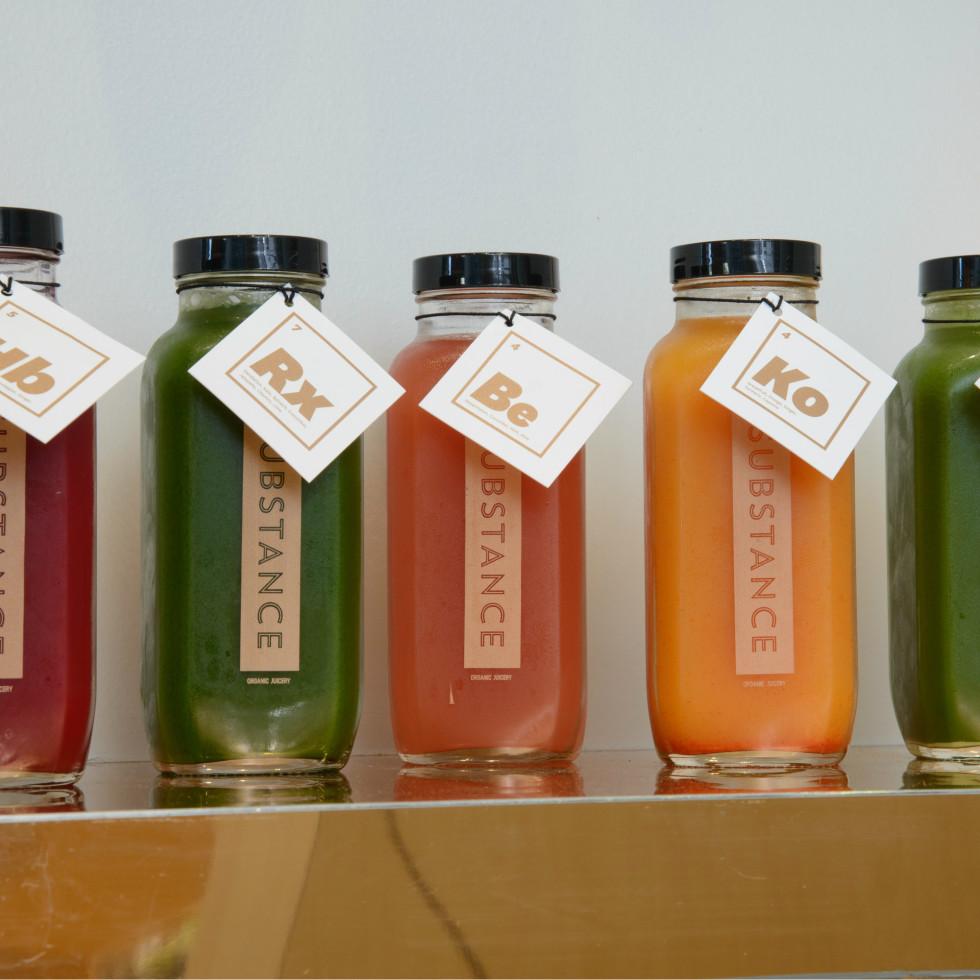 Juice from Substance Vitality Bar, Cedra Pharmacy