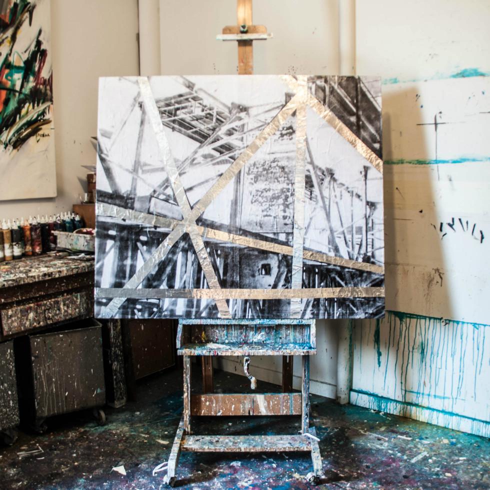 Edgar Medina painting