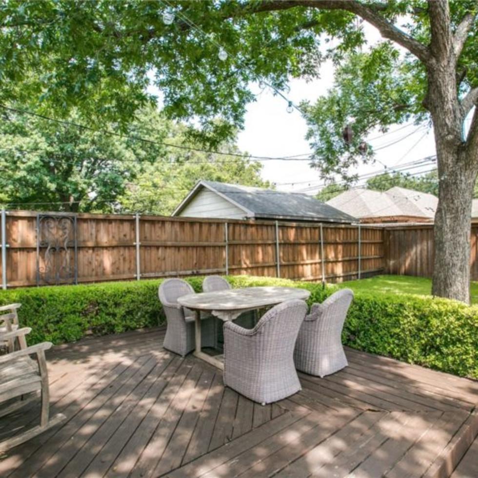 Backyard at 5839 Marquita Ave. in Dallas