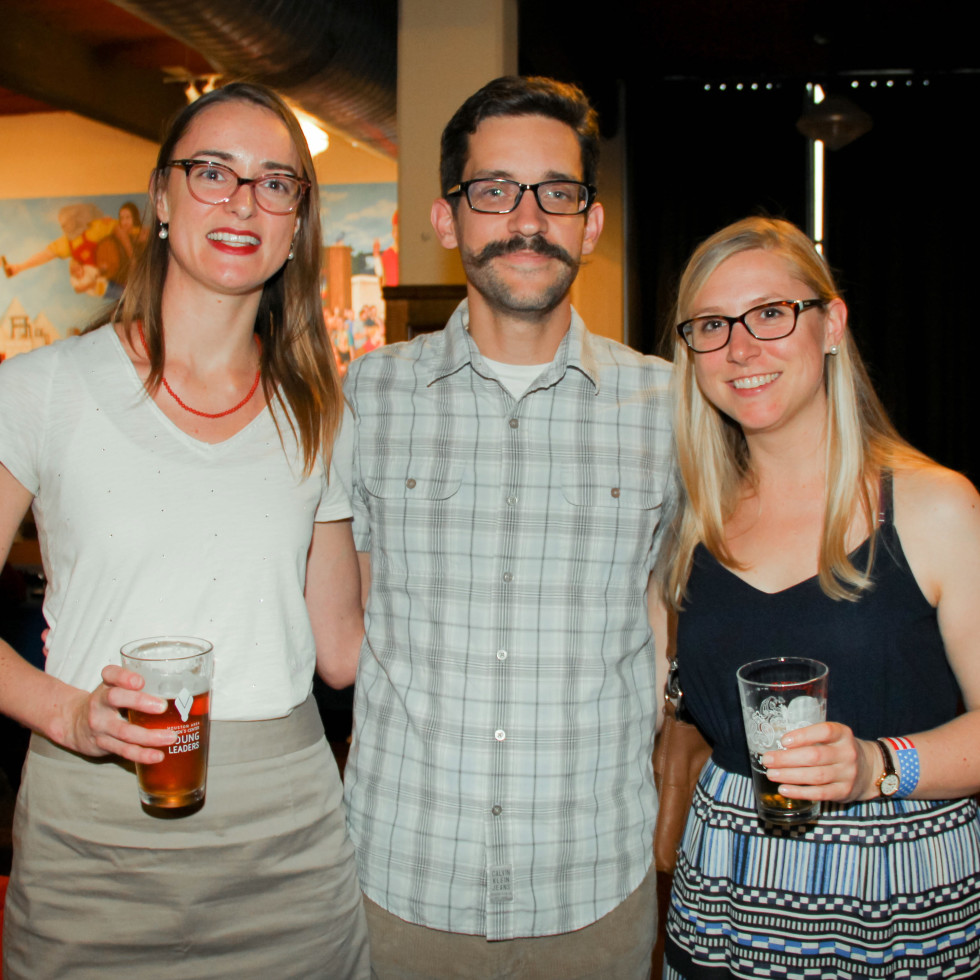Houston Area Women's Center Young Leaders 7/16  Emily Goldeman, Travis Giebler, Sarah Mason