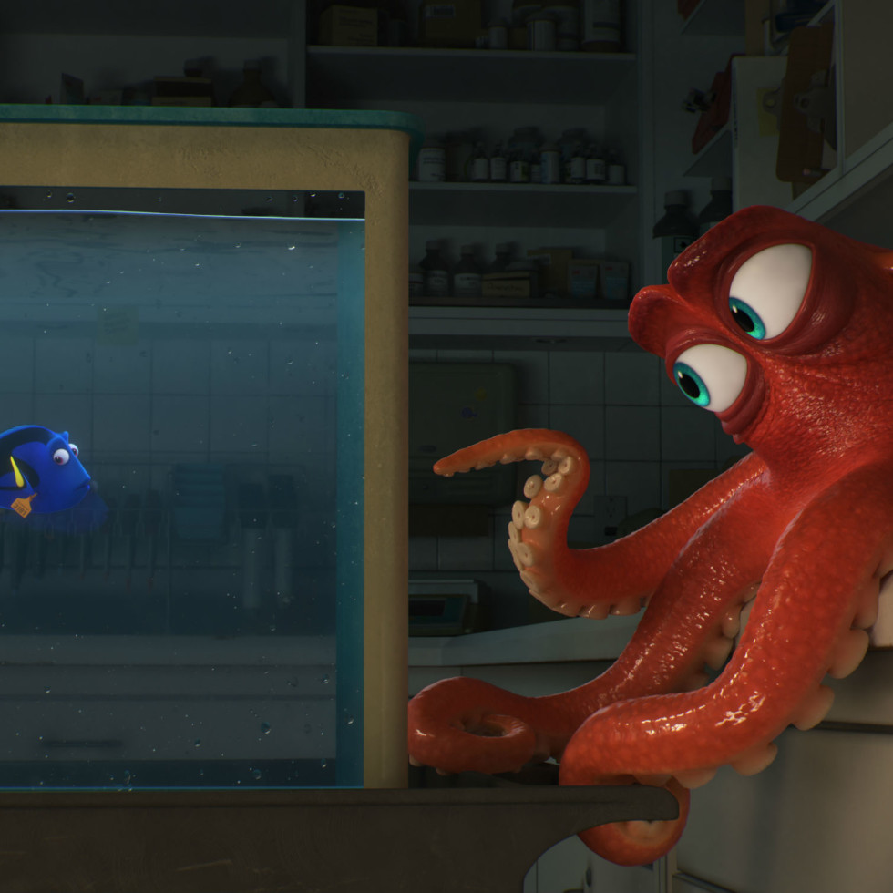 Dory and Hank in Finding Dory
