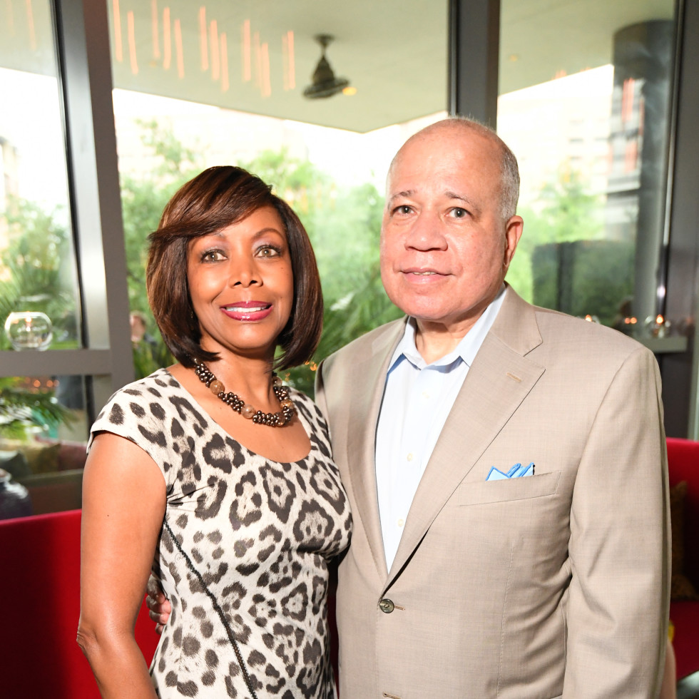Cafe Annie 35th anniversary, 6/16, Lora Clemmons, Dr. John Clemmons