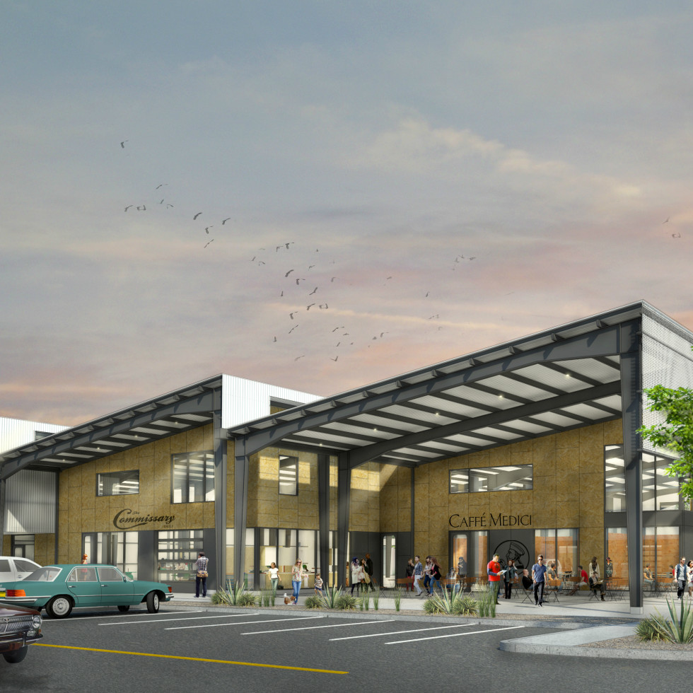 Springdale General creative office complex rendering Central Austin Management Group 2016