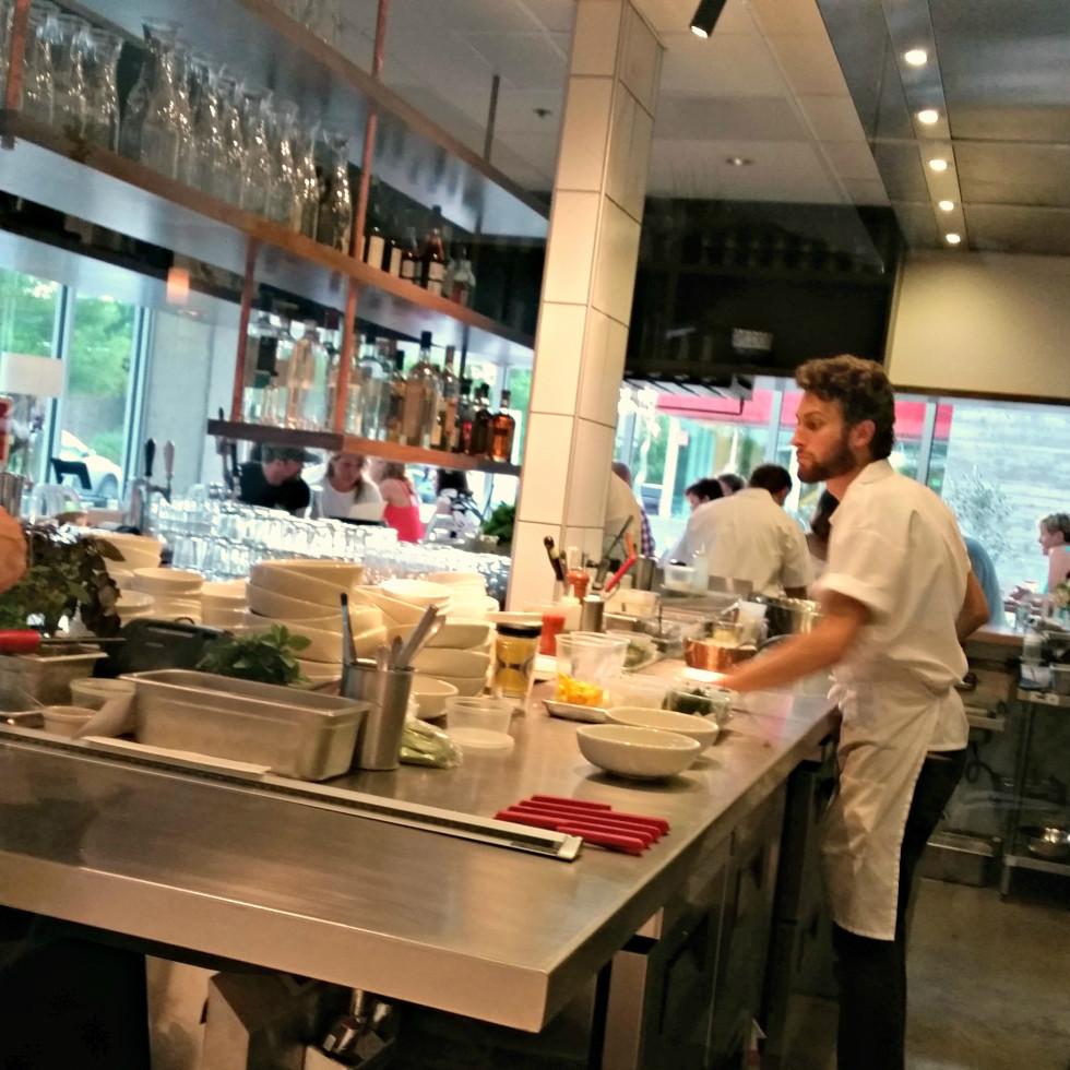 L'Oca D'Oro Austin restaurant Italian interior open kitchen cooks chefs