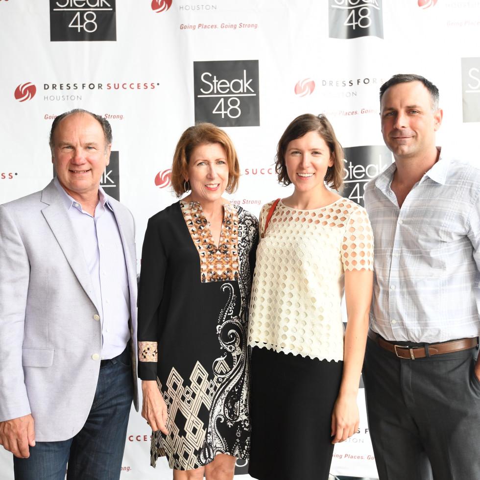 Steak 48 Opening dinners, 6/16, Mark and Deborah Kobelan, Michelle Kobelan, Scott Kneeland.