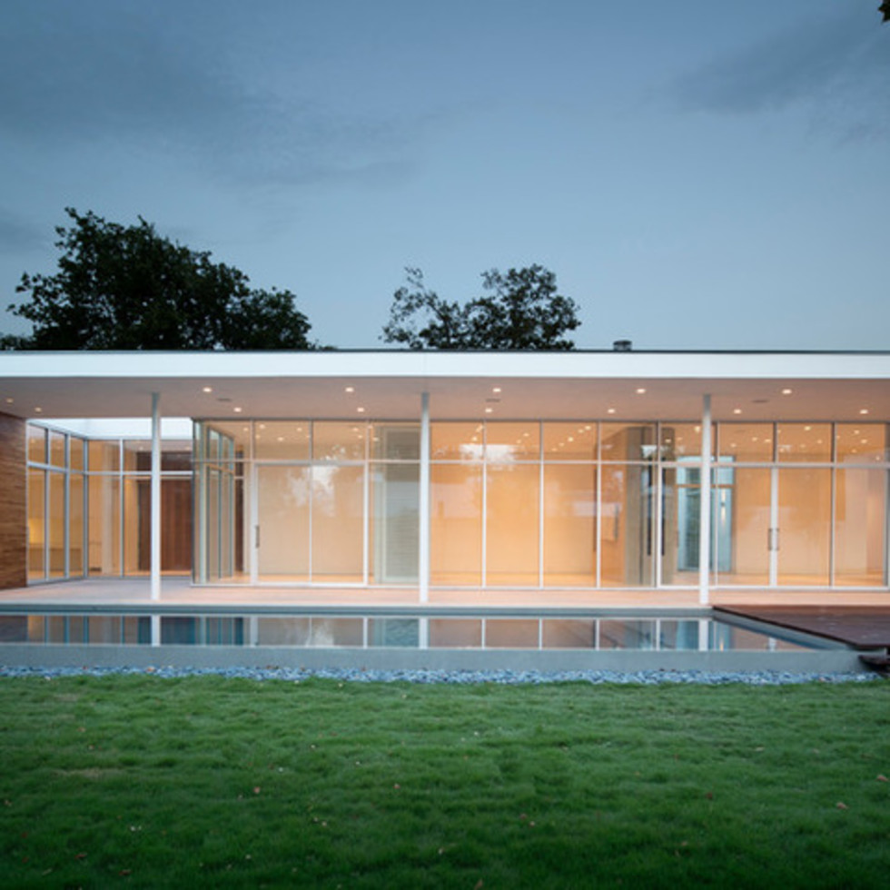 Houzz Dallas house home modern minimalism June 2016 backyard pool