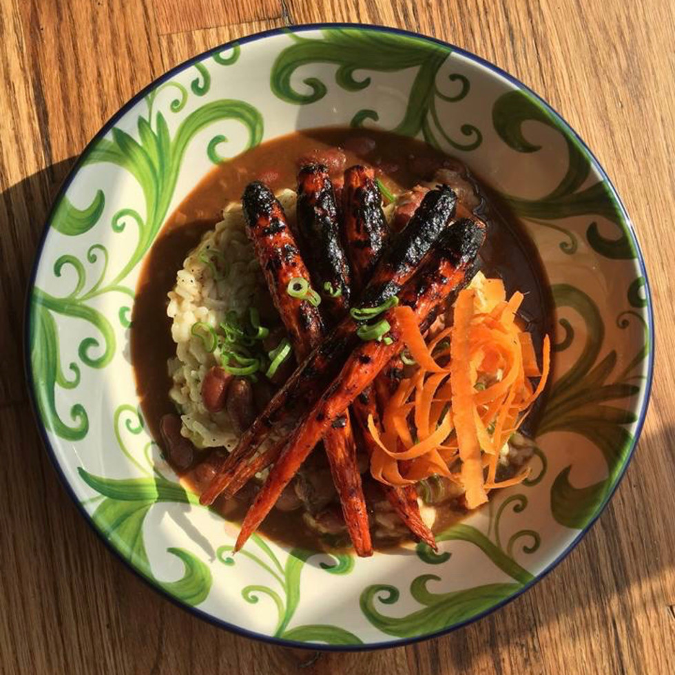 Ritual pork trotter charred carrots