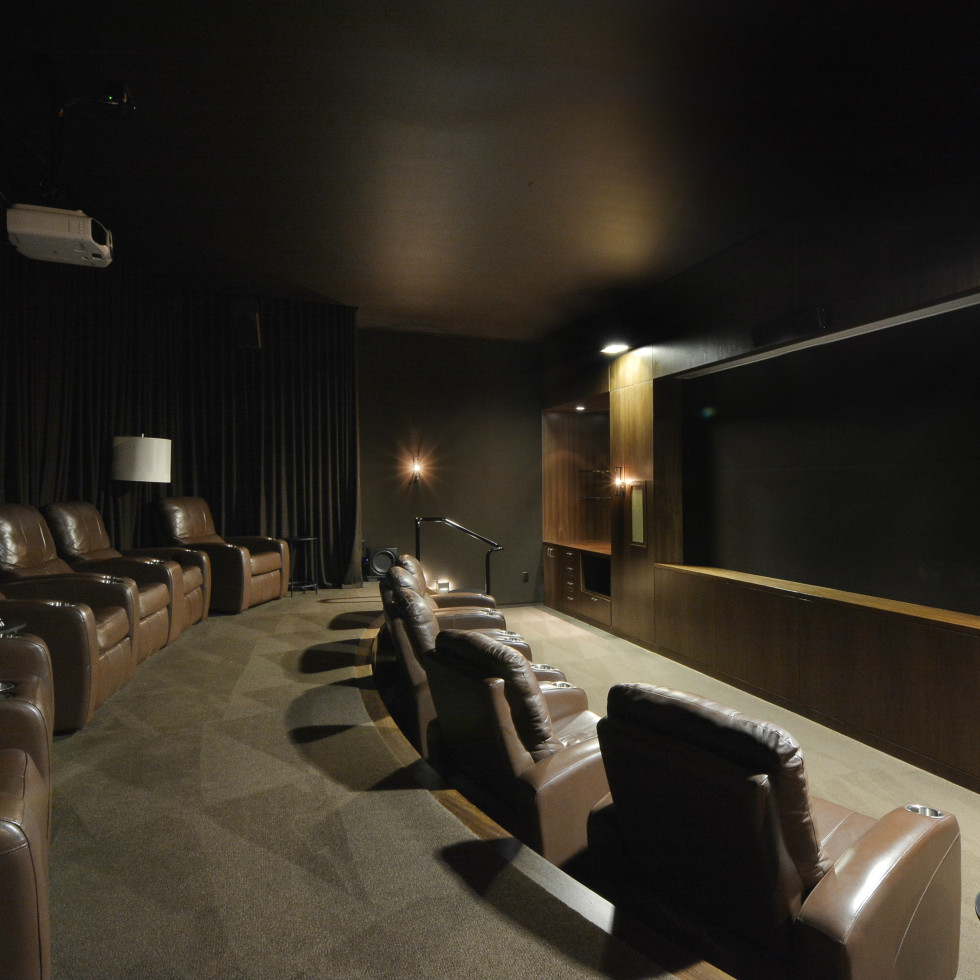 Austonian 33FF movie room