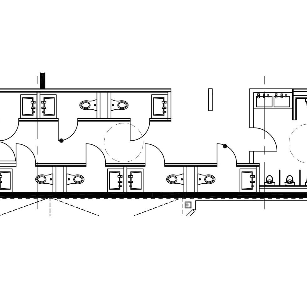 Alamo Drafthouse Austin Mueller location bathroom design Richard Weiss Tim League May 2016