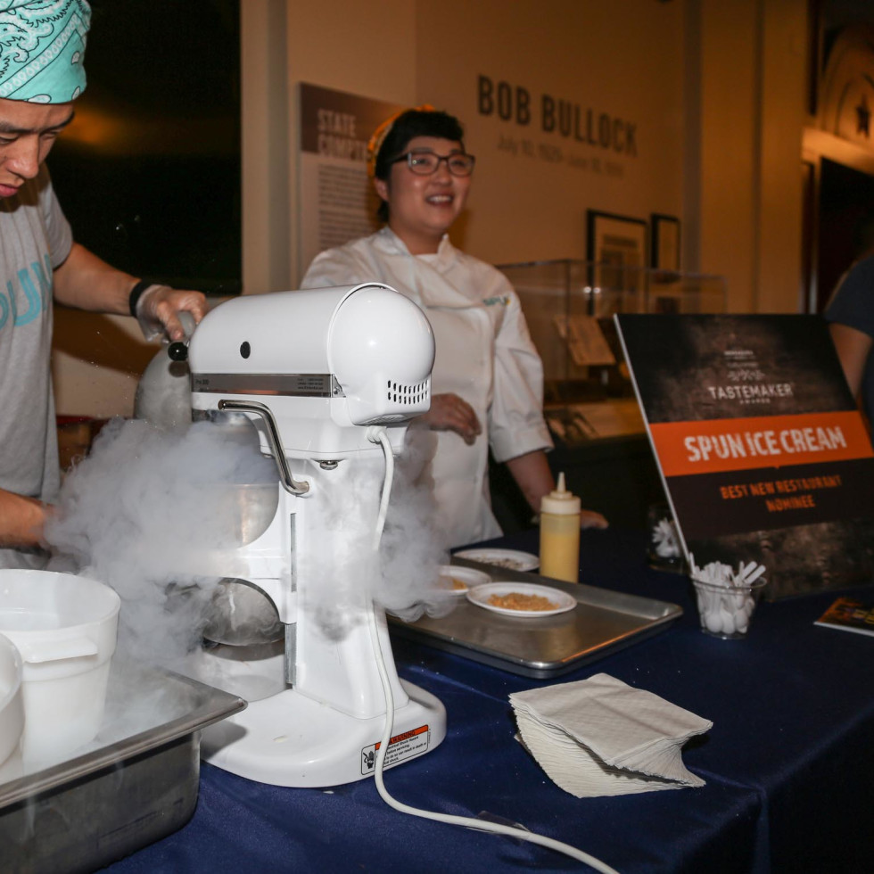 CultureMap Tastemaker Awards 2016 at Bob Bullock Museum Spun Ice Cream