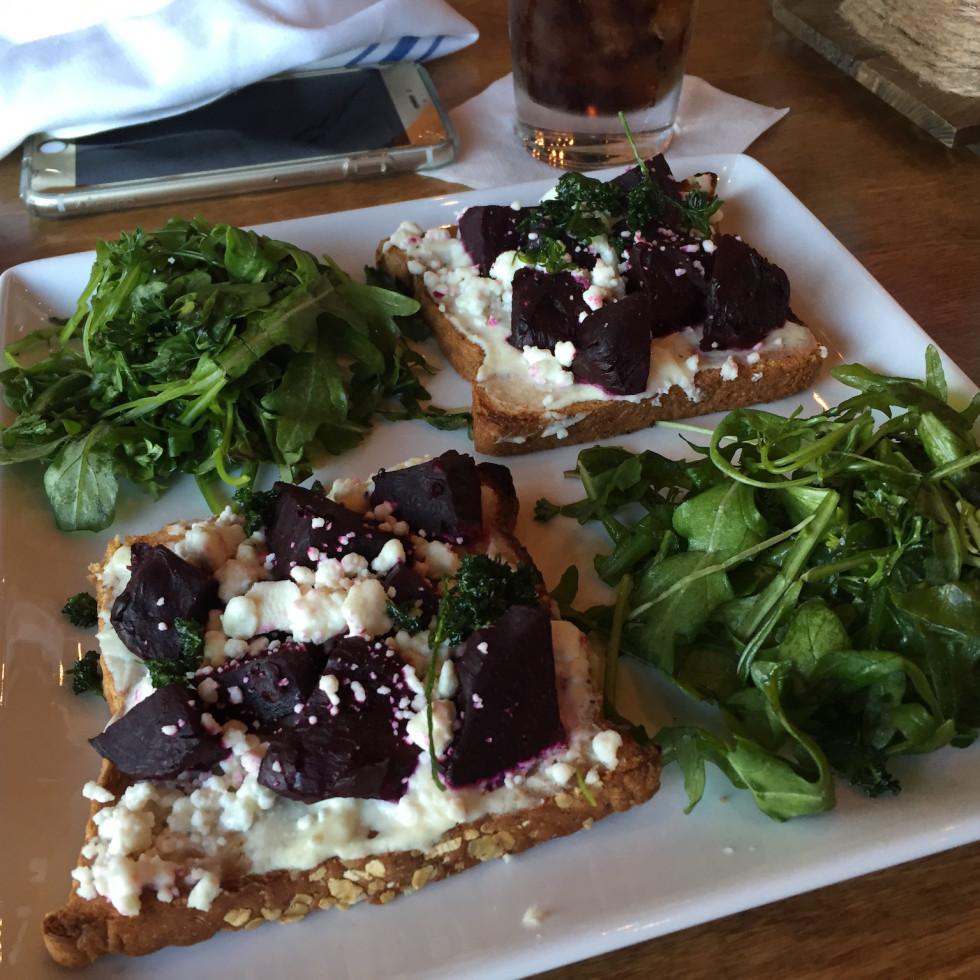 Restless Palate beet toast