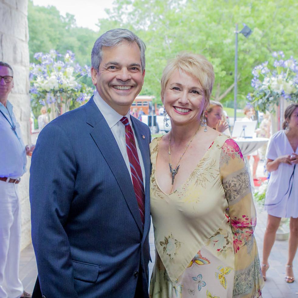 Umlauf Sculpture Garden and Museum Garden Party 2016 Mayor Steve Adler Nina Seely