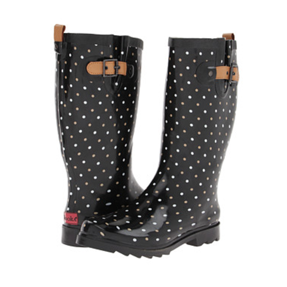 Chooka rain boot, classic dot, $70