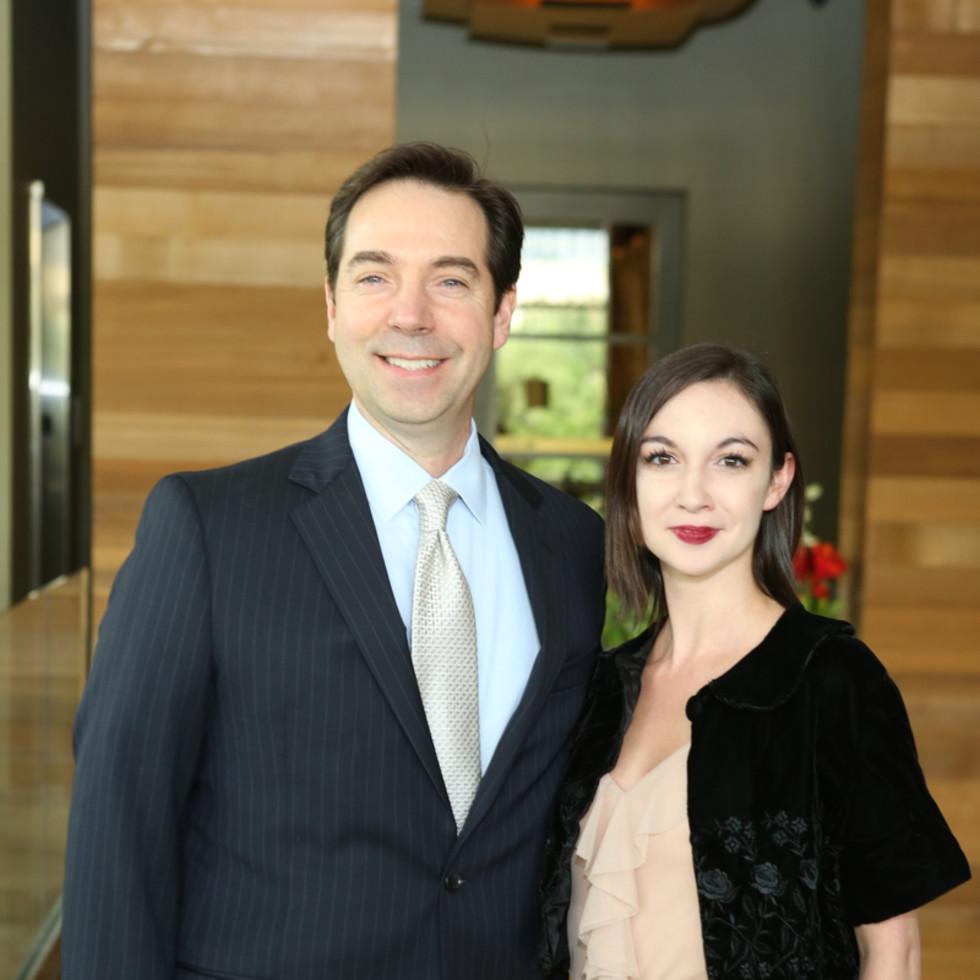 Houston Ballet Barre dinner, April 2016 Jim Nelson, Emily Bowen