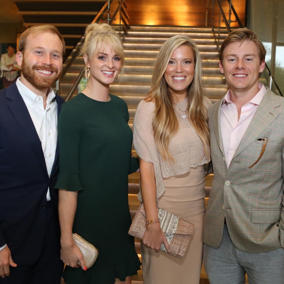 Houston Ballet Barre dinner, April 2016 Pierce Bush, Sarabeth Melton, Holly Alvis, Austin Alvis