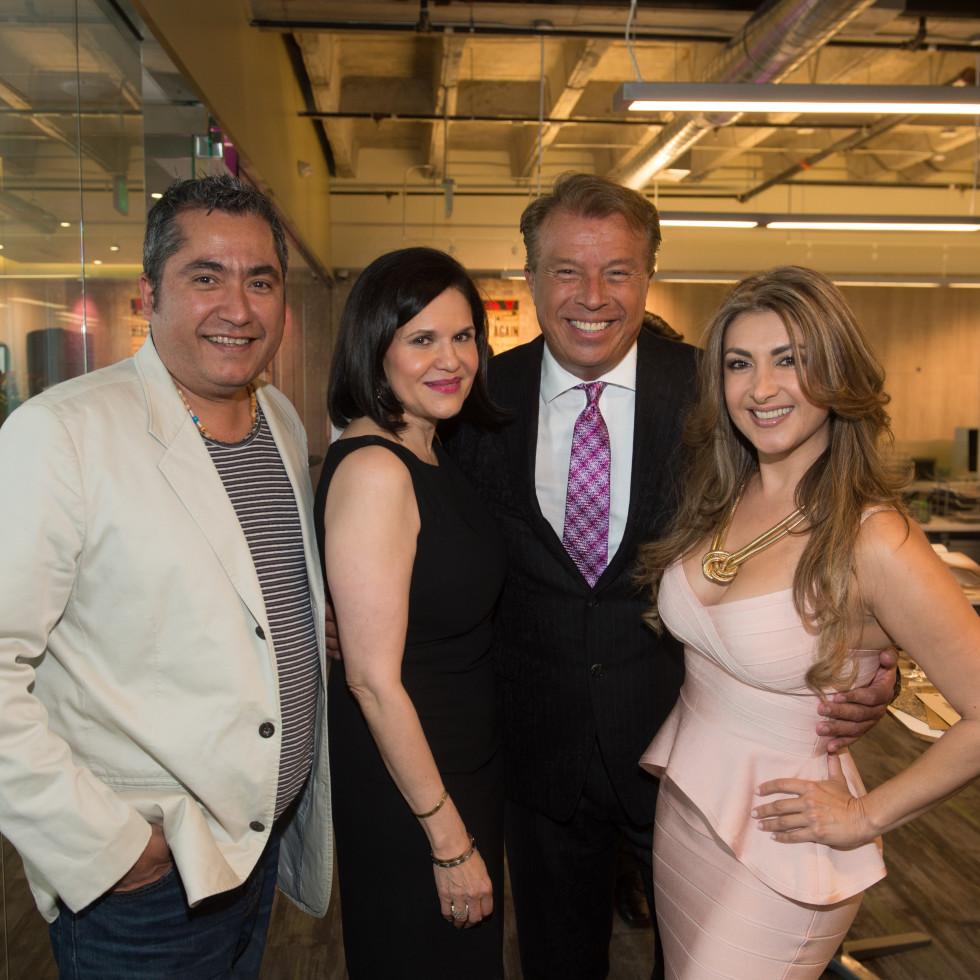Carnan Properties Opening, April 2016 Jorge Olivares, Elizabeth Sacks, Carlos Castroparedes, Andrea Gomez