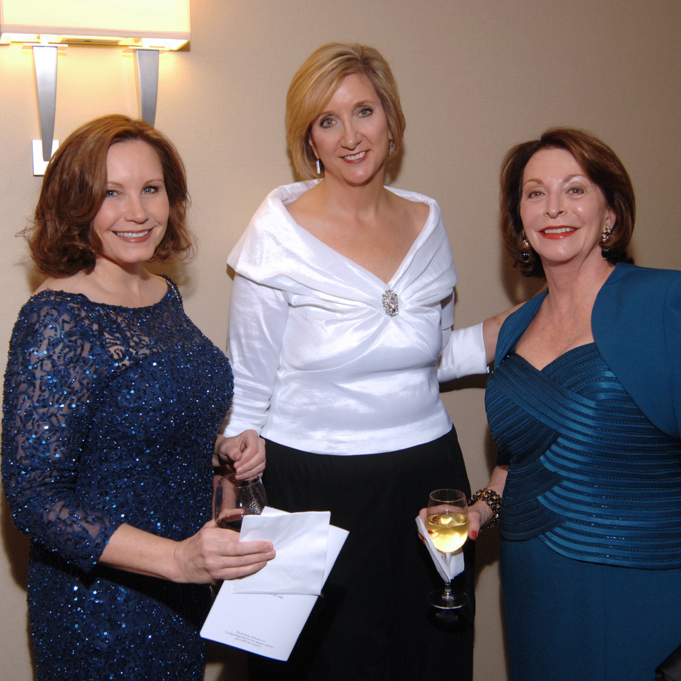 UH Law gala, April 2016, Anna Archer, Jackie Moy, Linda Glover