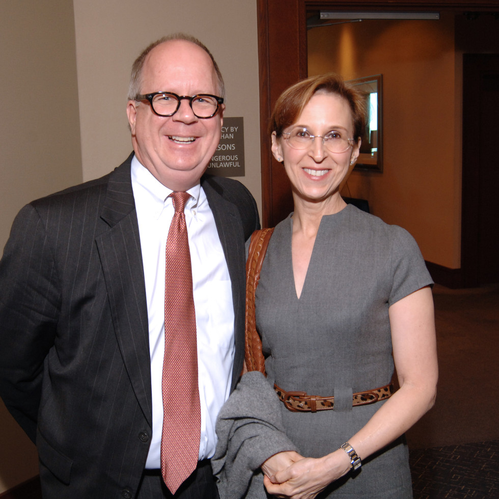UH Law gala, April 2016, justice Terry Jennings, Elizabeth Jennings