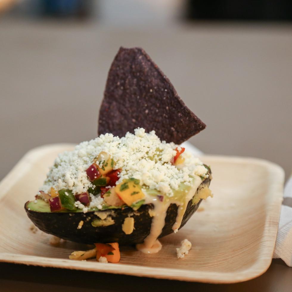 CultureMap Social: The Art Edition at Palm Door avocado bar Pink Avocado Catering