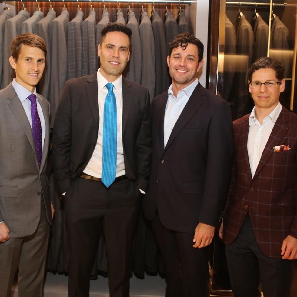 AJ Gracely, Gabe Canales,  Dr.John Papadopoulos, Dr. Alexander Pastuszak at Blue Cure party at Tom Ford